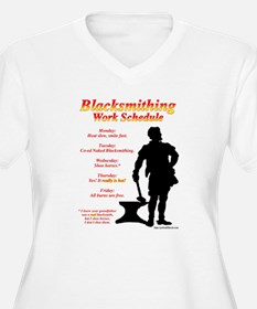 Blacksmithing Work Schedule T-Shirt