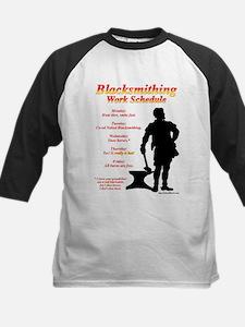 Blacksmithing Work Schedule Kids Baseball Jersey