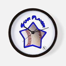 Baseball Star 2 Wall Clock