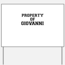 Property of GIOVANNI Yard Sign