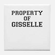 Property of GISSELLE Tile Coaster