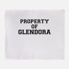 Property of GLENDORA Throw Blanket