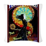 Psychic Fortune Teller Woven Throw Pillow