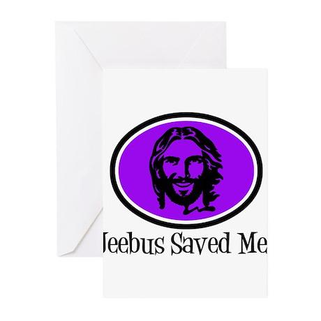 Jeebus Saved Me Greeting Cards (Pk of 10)