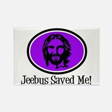 Jeebus Saved Me Rectangle Magnet