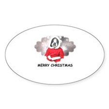 MERRY CHRISTMAS BOSTIN BABY Oval Decal