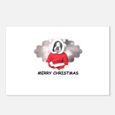 MERRY CHRISTMAS BOSTIN BABY Postcards (Package of