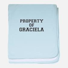 Property of GRACIELA baby blanket