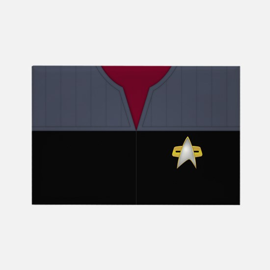 Star Trek DS9 Red No Rank Rectangle Magnet
