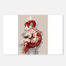 Splatter Painted Flamingo Postcards (Package of 8)