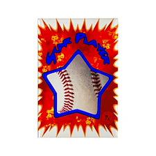 Baseball Star 2 Rectangle Magnet (10 pack)