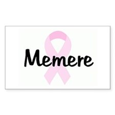 Memere pink ribbon Rectangle Decal