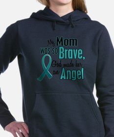Cute Ovarian cancer mom Women's Hooded Sweatshirt