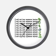 Buy more hostas Wall Clock