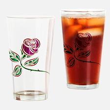 Cute Purple rose Drinking Glass