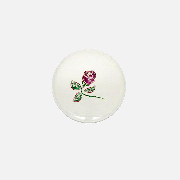 Cute Purple rose Mini Button