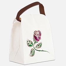 Cute Purple rose Canvas Lunch Bag