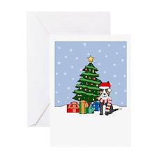 Border Collie Christmas Greeting Card (Blank)