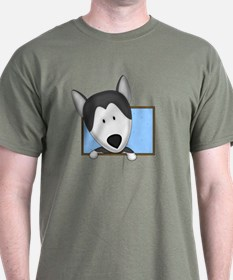 Cartoon Siberian Husky T-Shirt