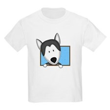 Cartoon Siberian Husky T-Shirt