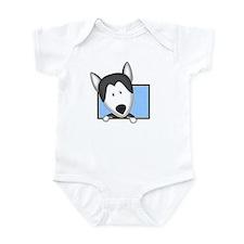 Cartoon Siberian Husky Baby Bodysuit
