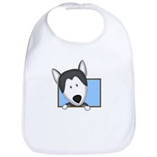 Cartoon Siberian Husky Bib