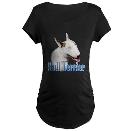 Bull Terrier Name Maternity Dark T-Shirt