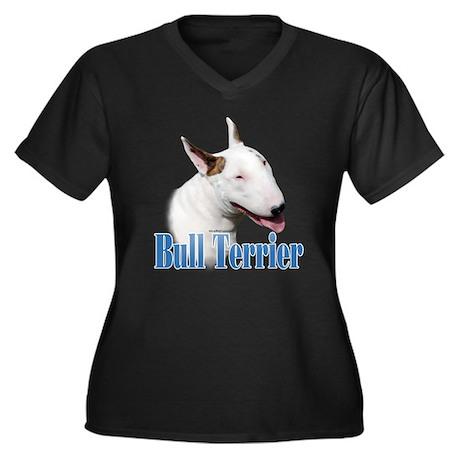 Bull Terrier Name Women's Plus Size V-Neck Dark T-