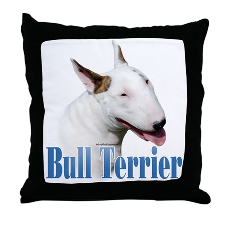 Bull Terrier Name Throw Pillow