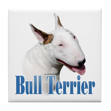 Bull Terrier Name Tile Coaster