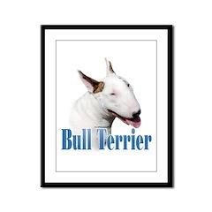 Bull Terrier Name Framed Panel Print