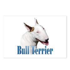 Bull Terrier Name Postcards (Package of 8)
