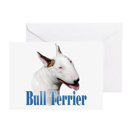 Bull Terrier Name Greeting Cards (Pk of 10)