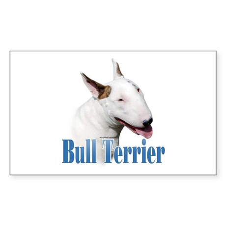 Bull Terrier Name Rectangle Sticker