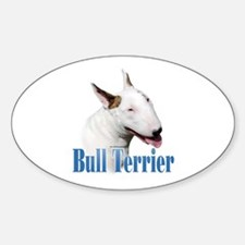 Bull Terrier Name Oval Decal