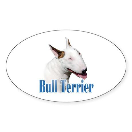Bull Terrier Name Oval Sticker
