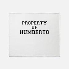 Property of HUMBERTO Throw Blanket