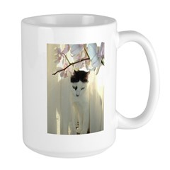 White and Black Cat Mug