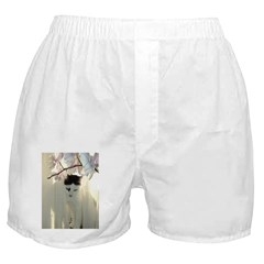 White and Black Cat Boxer Shorts
