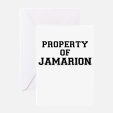 Property of JAMARION Greeting Cards