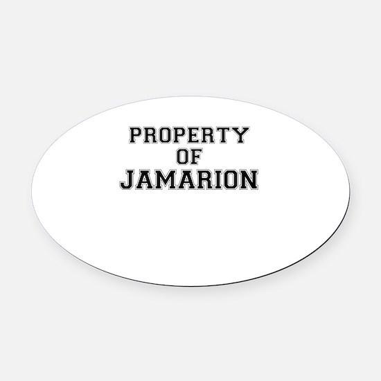 Property of JAMARION Oval Car Magnet