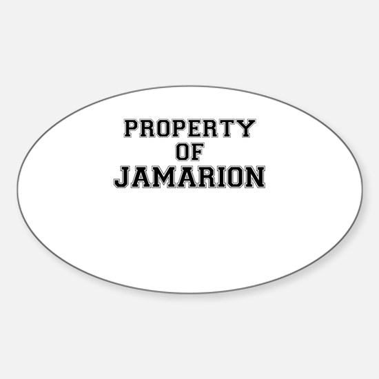 Property of JAMARION Decal