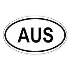 Australia Oval Decal