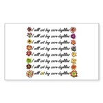 Buy more daylilies Rectangle Sticker