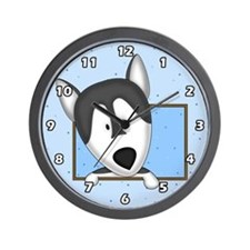 Cartoon Alaskan Malamute Clock