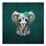 Elephant Square Car Magnets