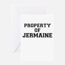 Property of JERMAINE Greeting Cards