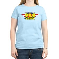 99.9 The Hawk Women's Pink T-Shirt