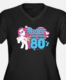 MLP Retro Ma Women's Plus Size V-Neck Dark T-Shirt