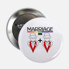MARRIAGE EQUALS HEART PLUS HE Button